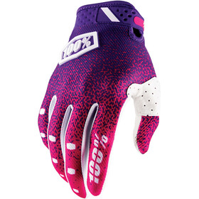 100% Ridefit Gloves pink/purple